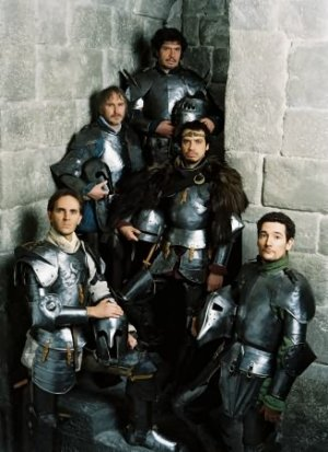 De haut en bas: Leodagan, Perceval, Arthur, Lancelot, Bohort